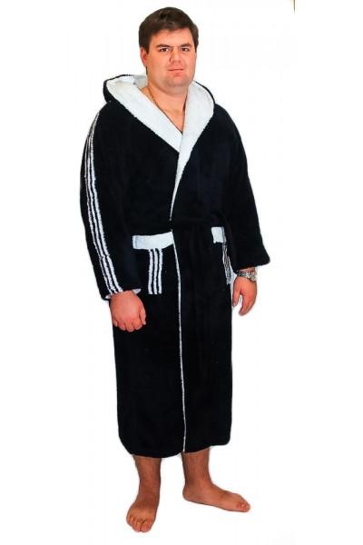 Халат мужской Funika & SN-Worop 1001 велсофт синий. ✪  Элитные мужские халаты ✪