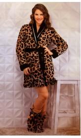 Халат женский Angels Леопард запах