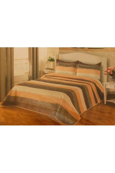 Застилайте кровать Покрывалом NATASHA Полоска 240x260 ⚜ ведь это самый видимый текстиль!