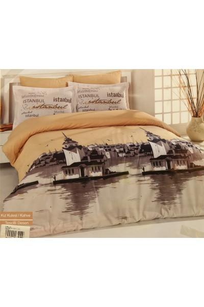 Комплекты постельного белья  ⚜ Romeo Soft Ranforce Istambul Bej ⚜. Постельное белье. КПБ