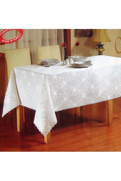 Скатерть тефлоновая Mirabella 160*220 Овал. ➲ Скатерти на столы любого размера!